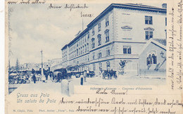 Gruss Aus Pola - Infanterie-Kaserne - Animiert - 1900     (PA-5-101018) - Kroatien