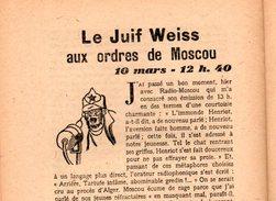Libro  Fascicule N°5 Mars 1944 EDITORIAUX Radio Par Philippe HENRIOT Secrétaire D'état Propagande ( Pétain ) - Politique
