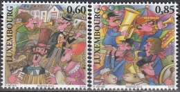 Luxembourg 2014 Yvert 1951 - 1952 Neuf ** Cote (2015) 4.30 Euro Europa CEPT Instruments De Musique Nationaux