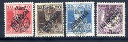 TRANSYLVANIA 1919 Overprint On Karl And Zita With Köztarsasag Overprint Set  Of 4 LHM / *.  Michel 61-64 - Siebenbürgen (Transsylvanien)