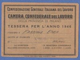 TESSERA CAMERA CONFEDERALE Del LAVORO - Anno 1946 (171009) - Organizzazioni