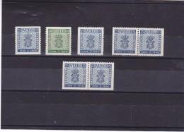 SUEDE 1955 CENTENAIRE DU TIMBRE Yvert 395-396 + 395a-395ab + 395d NEUF** MNH