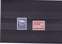 SUEDE 1959 BARRAGE Yvert 437-438 NEUF** MNH