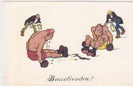 Boxfreuden - Zu Boden - Sign. Kutzer     (PA-5-130217) - Boxsport