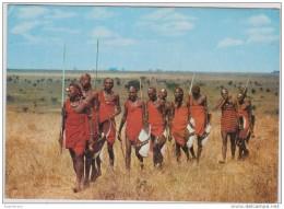 MASAI TRIBE TRIBU Grand Format CPA Postkaart KENIA KENYA Afrika Africa Afrique - Kenya