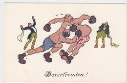 Boxfreuden - Kinnhaken - Sign. Kutzer     (PA-5-130217) - Boxsport