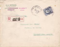 Petit Montenez / Lettre En Recommandé De BXL Sud 27 II 25 - 1921-1925 Petit Montenez