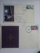 GB 2 X PRE-DECIMAL ILLUSTRATED FIRST DAY COVERS GIPSY MOTH AND NATO - 1952-1971 Dezimalausgaben (Vorläufer)