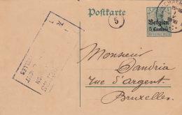 Carte Entier Postal Schaerbeek Deutsches Reich 1916