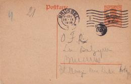Carte Brussel Rond 629 Deutsches Reich 1918