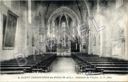 Saint-Christophe-du-Bois (49) - L'Intérieur De L'Église (Circulé En 1939) - France
