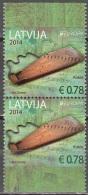 Latvija 2014 Europa CEPT Instrument De Musique Kokle Paire Du Carnet Neuf ** - Lettonie