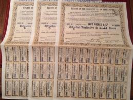 Sté  En  Commandite  JAPY   FRÈRES   &  Cie  -------Trois   Obligations  De  1.000 Frs - Industrie