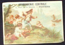 CHROMO CORDONNERIE-POITIERS-SCENE D'ENFANTS-1871 - Autres