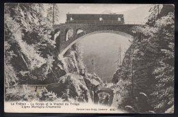 SUISSE - Le Trétien - La Gorge Et Le Viaduc Du Triège - Ligne Martigny Chamonix - Train - VS Valais