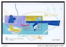 MACAO BF053 Année Des Océans - Requin - Blocs-feuillets