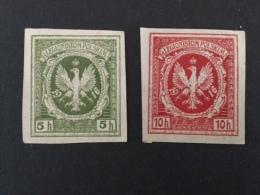 1916 Legionistom Polskim 5+10 H - ....-1919 Overgangsregering