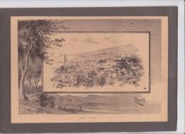 Pazin - Pisino - Istria - Croatia - Old Gravure - Excerpt From Old Books - Estratto Da Vecchio Libro Ca.1900 - Estampes & Gravures
