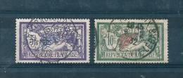 France Type Merson N°206 Et 207  Oblitéré (cote 25€) - 1900-27 Merson
