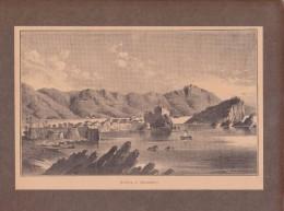 Budva - Budua_Montenegro_old Gravure_excerpt From Old Books_estratto Da Vecchio Libro Ca.1900 - Estampes & Gravures