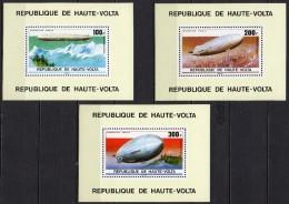 Haute-Volta - Poste Aérienne - 1976 - Yvert N° PA 205 à 207 ** - Zeppelin - Upper Volta (1958-1984)