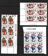 GB 1968 Christmas In MNH Corner Marginal Blocks Of Six (4806) - Blocks & Miniature Sheets