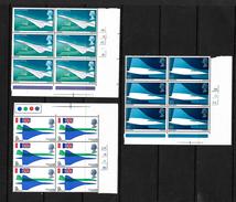 GB 1969 Concorde In MNH Corner Marginal Blocks Of Six (4813) - Blocks & Miniature Sheets