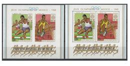 Burundi Bloc Y&T N° H26 Dentelé Et Non Dentelé MNH ** Cote 30 € - Sommer 1968: Mexico