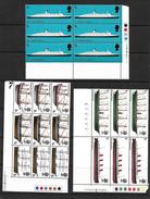 GB 1969 British Ship In MNH Corner Marginal Blocks Of Six/nine (4815) - Blocks & Miniature Sheets