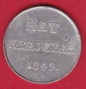 Hongrie - Hat Krajczar 1849 - Argent - Hungary