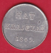 Hongrie - Hat Krajczar 1849 - Argent - Hungría