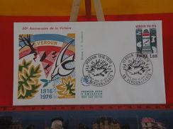 FDC > 1970-1979 > 1916 Verdun 1976, Voie Sacrée - 55 Verdun & Paris - 12.6.1976 - 1er Jour. Coté 3 € - FDC