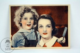 Old Trading Card / Chromo Topic/ Theme Cinema/ Movie: The Little Colonel - Actress: Shirley Temple - Documentos Antiguos