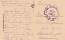 """Feldpostkaart Met """"Militär Genesungsheim Spa Abteilung Schule / Briefstempel"""". - WW I"""