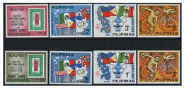 Philippines 2 Série De 1968 De 4 Tp Y&T N° 762 / 65 MNH ** Et PA N° 72/ 75 MNH ** - Ete 1968: Mexico