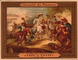 Chromos Chocolat Du Planteur -  Bataille De Marengo - Musee De Versailles - R/V - Chocolat