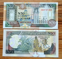 Somalia 50 Shilin 1991 P-R2  UNC BANKNOTE CURRENCY AFRICA PAPER MONEY BOLL - Somalia