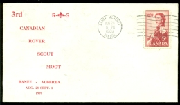 Canada 1959 Special Cover 3rd Canadian Rover Scout Moot Banff No Address