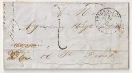 LAC LES BATIGNOLLES Seine Pour ST DENIS. 1849. TAXE TAMPON 2. - Marcophilie (Lettres)