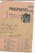 SAGE - 1901 - 1c SAGE SEUL Sur BANDE Avec IMPRIME COMMERCIAL De NANTES (LOIRE INFERIEURE) Pour TESSON - 1877-1920: Periodo Semi Moderno