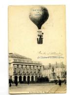 A 18688  -  Souvenir De Liège  -  Mongolfiere  -  Le Théâtre Et La Statue Grétry - Luik