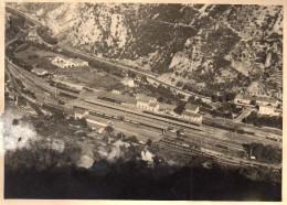 611cci   66 Villefranche De Conflens Grande Photo (17cm X 12.5cm) La Gare - Foto