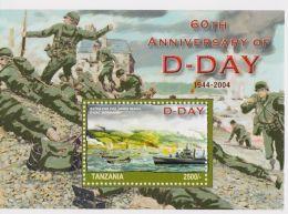 Tanzania - World War II, D-Day, 2005 - Sc 2571 S/S MNH - Militaria