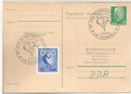 ALEMANIA DDR TP CON MAT GREBOBLE INAUGURACION JUEGOS OLIMPICOS 1958 ANTORCHA TORCH OLYMPIC - Winter 1968: Grenoble