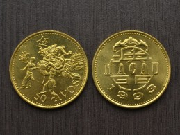 Macau( Macao) 50 Avos 1993 KM72 EF COIN ASIA CURRENCY  > Dances Of Dragons - Macao