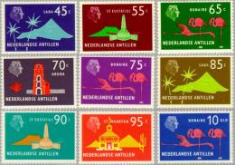 Ned Antillen 1973 Queen Juliana And Various Sites NVPH 460-468 MNH** Postfris - Antilles
