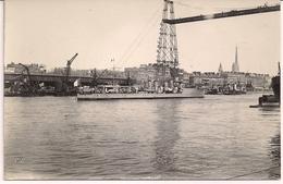 CPA Carte Photo Navire De Guerre Port De Rouen Contre Torpilleur Mécanicien Principal Lestin 1916 1925 Photo N° 20 - Rouen