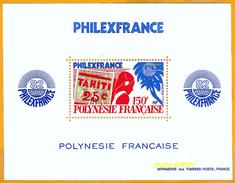 Polynésie **LUXE 1982 Bloc 6 Philexfrance - Blocs-feuillets