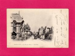 14 CALVADOS, HOULGATE, La Rue Des Bains, Animée, 1902, (N.D. Phot) - Houlgate