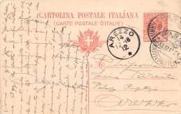 Storia Postale Italia Regno 1916 - Cartolina Postale Tipo Leoni 10c Parma Arezzo - Italia